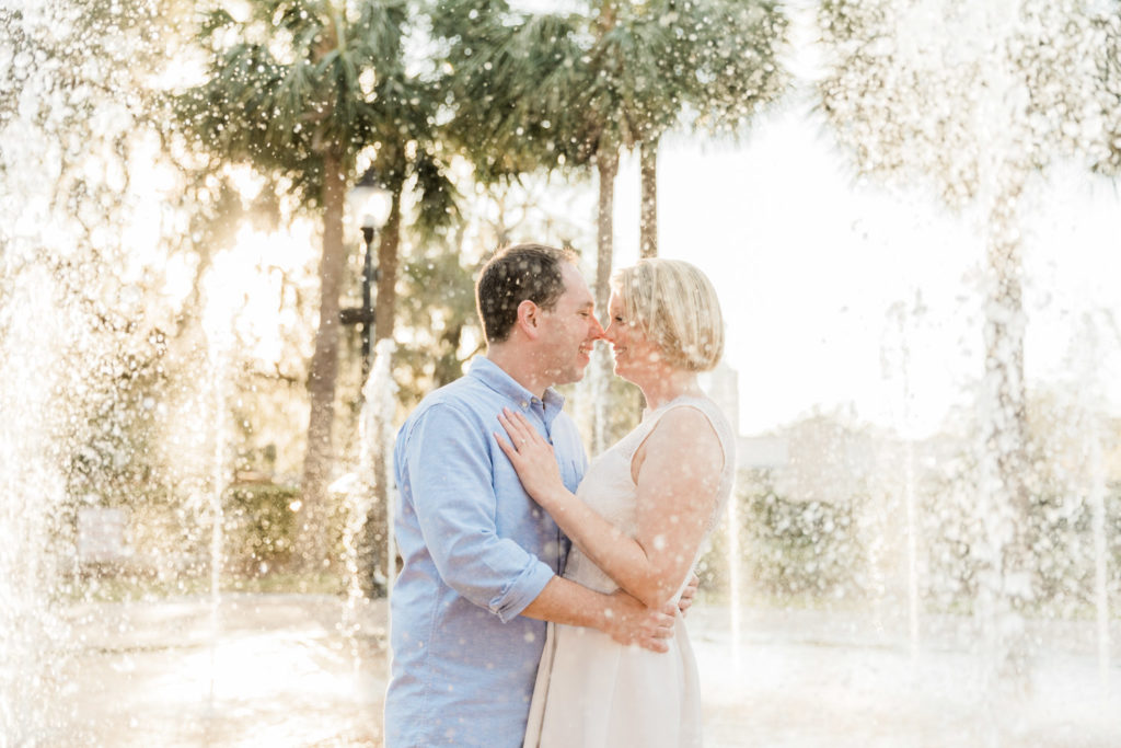 Downtown Winter Garden, FL Engagement